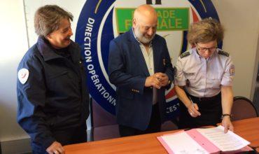 Signature de la convention de partenariat  avec la brigade fluviale